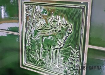 Detail kachle za stolovým sporákem
