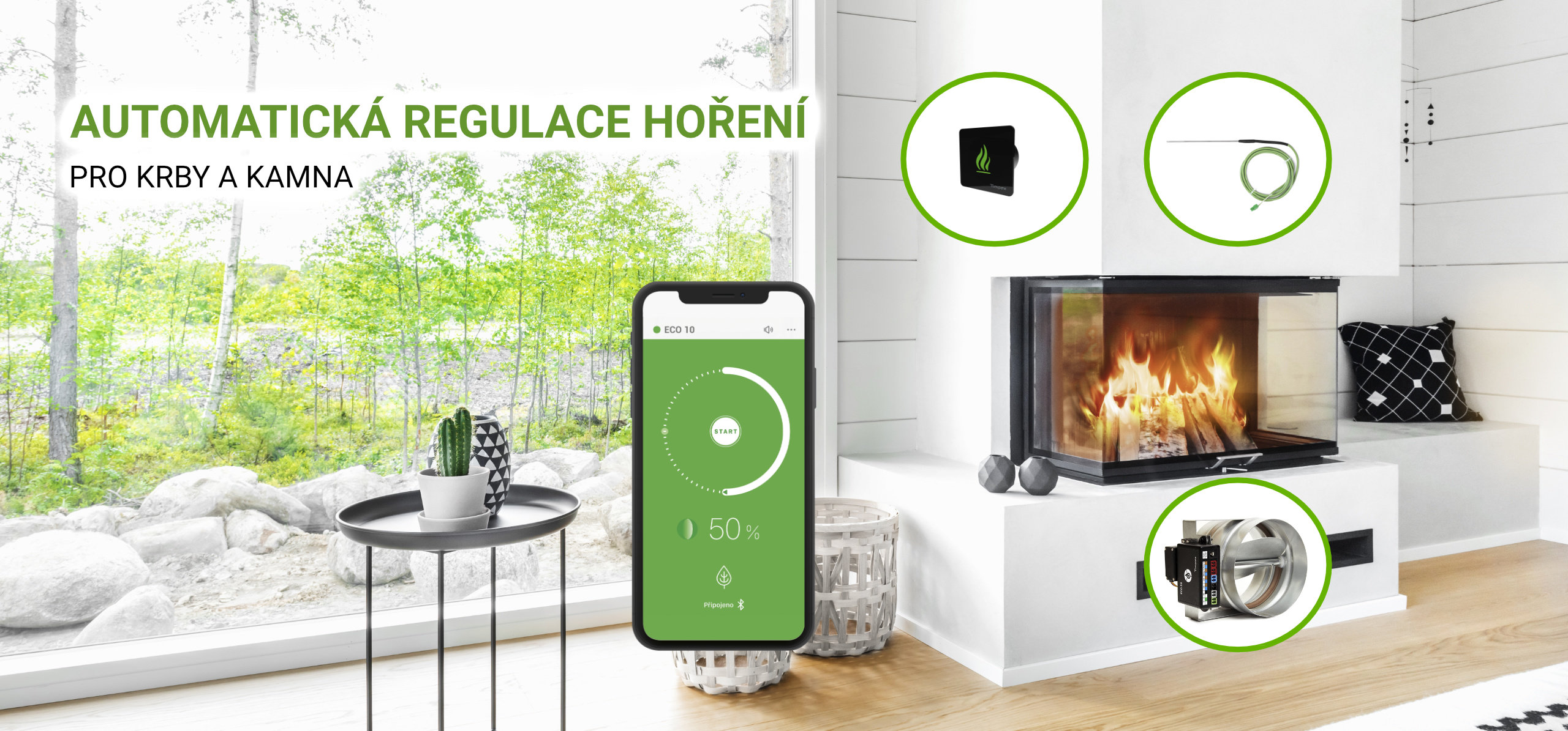 Timpex automatická regulace hoření